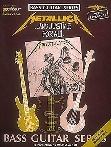 9780895244499: Metallica - ...And Justice for All* (Bass Guitar)