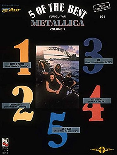 9780895245199: Metallica: v. 1: 5 of the Best - For Guitar with Tablature (Play it Like it is)