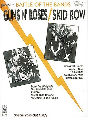 Battle Of The Bands Guns N' Roses Skid Row With Tablature: Skid Row