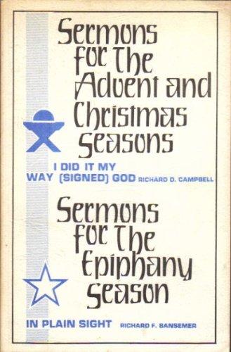 9780895365644: Sermons for the Epiphany season: In plain sight