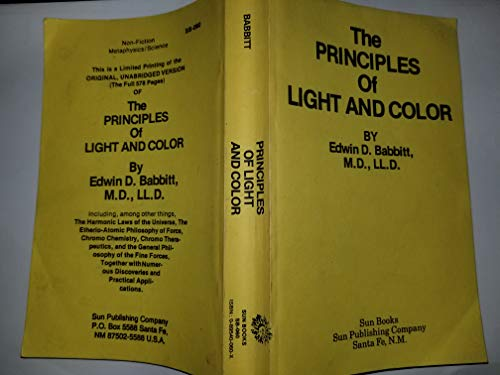 9780895400604: Principles of Light and Color