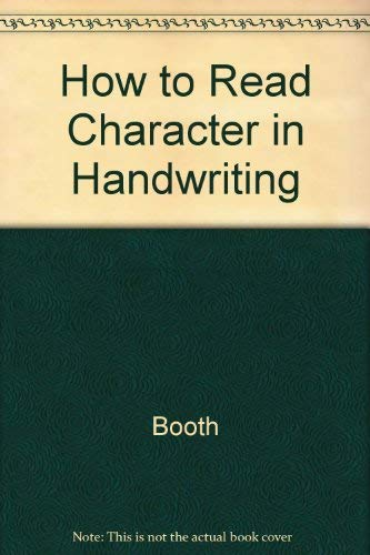 9780895402202: How to Read Character in Handwriting