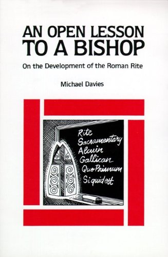 9780895551429: An Open Lesson to a Bishop