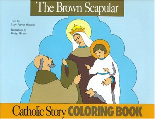 9780895553805: The Brown Scapular Coloring Book