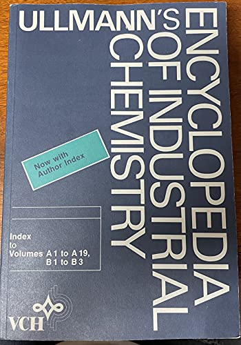 9780895731869: Ullmann's Encyclopedia of Industrial Chemistry (Ullmann's Encyclopedia of Industrial Chemistry 5th ed Cumulative Index)