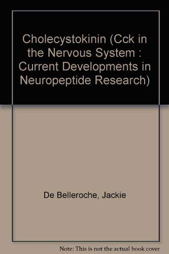 9780895733696: Cholecystokinin (CCK) in the Nervous System