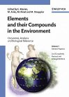 Metals and their compounds in the environment: Occurrence, analysis, and biological relevance: No ...