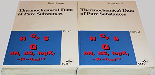 9780895738660: Thermochemical data of pure substances, Parts I & II