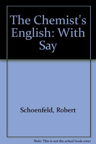 9780895739469: The Chemist's English: With