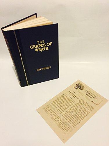 GRAPES OF WRATH: Steinbeck, John. Weisberger,