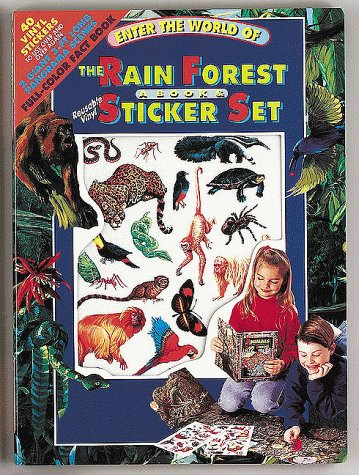 9780895777850: Enter the World of the Rain Forest a Book & Sticker Set/Book and 34 Vinyl Stickers (Sticker Panorama)
