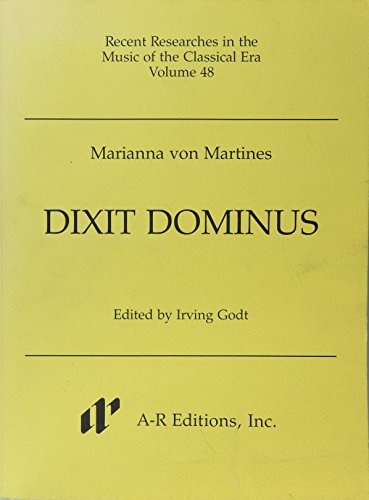 9780895793843: 048: Dixit Dominus (Recent Researches in the Music of the Classical Era)