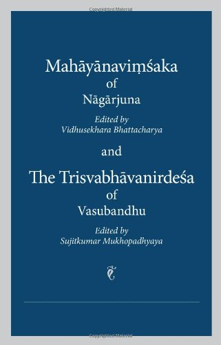 9780895819956: Mahayanavimsaka and the Trisvabhavanirdesa