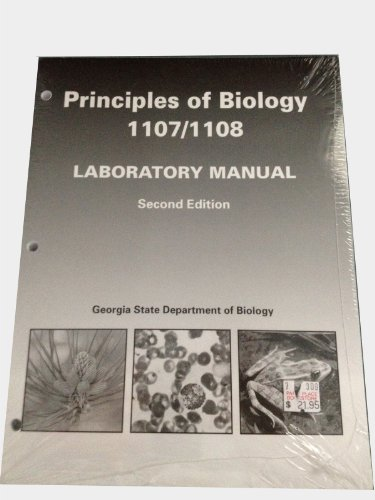 9780895824783: Principles of Biology 1107/1108 Laboratory Manual Second Edition