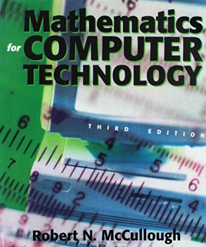 9780895827005: Mathematics for Computer Technology