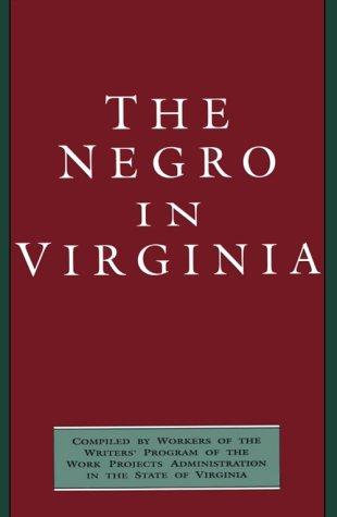 9780895871190: The Negro in Virginia