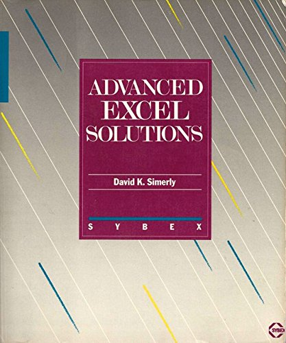 9780895883896: Advanced EXCEL Solutions