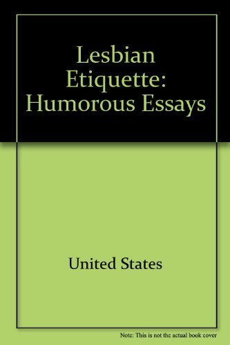9780895941978: Lesbian etiquette: Humorous essays (The Crossing Press feminist series)