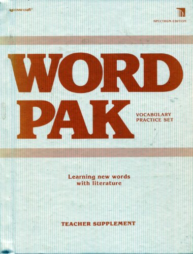 9780895985569: WordPak (Learning New Words with literature, Teacher's Supplement)