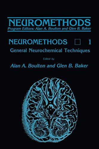 9780896030756: General Neurochemical Techniques (Neuromethods)