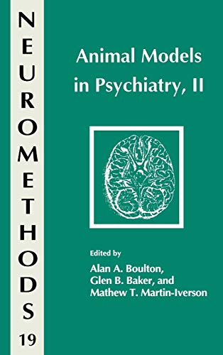 Animal Models in Psychiatry, II