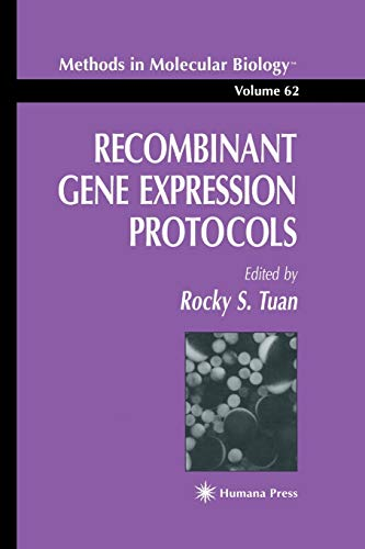 9780896033337: Recombinant Gene Expression Protocols (Methods in Molecular Biology)