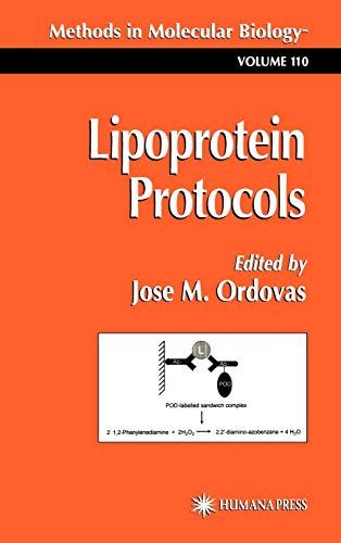 9780896034204: Lipoprotein Protocols (Methods in Molecular Biology)