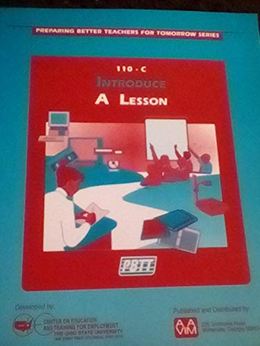 9780896063631: Preparing Better Teachers for Tomorrow Series,110-c Introduce A Lesson