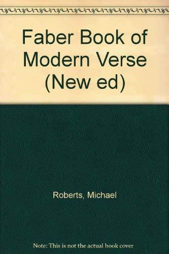 9780896091269: Faber Book of Modern Verse (New Ed)