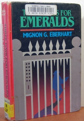9780896211674: Three Days for Emeralds (Thorndike Press Large Print Basic Series)