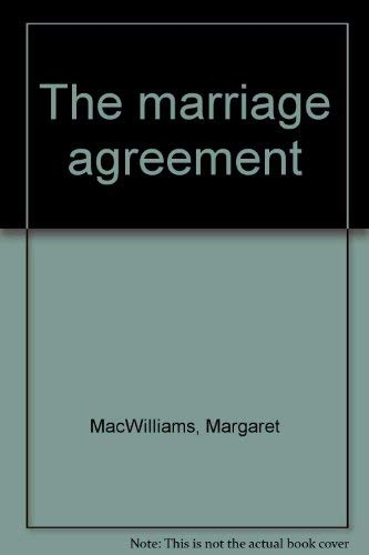 9780896213111: The marriage agreement