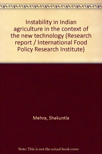 Instability in Indian agriculture in the context: Shakuntla Mehra
