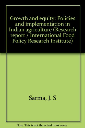 Growth and equity: Policies and implementation in: Sarma, J. S