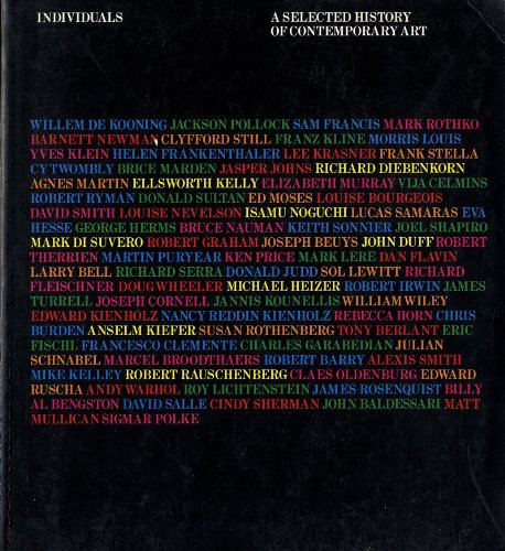 9780896596818: Individuals: A selected history of contemporary art, 1945-1986