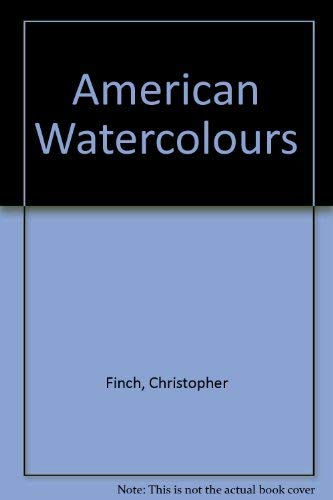 9780896599673: American Watercolors