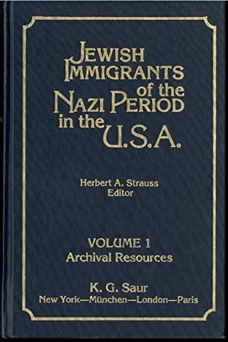 9780896640269: Jewish immigrants of the Nazi period in the USA