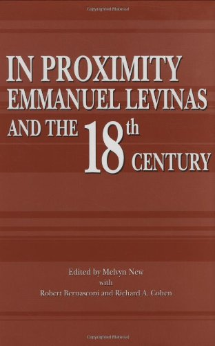 9780896724518: In Proximity: Emmanuel Levinas and the Eighteenth Century