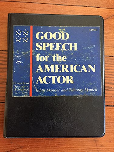 9780896760394: Good Speech for the American Actor: With Book (Bk and Css)