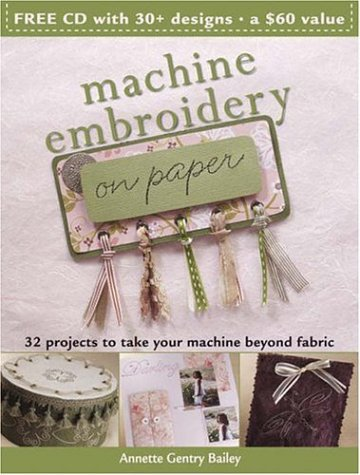 9780896893023: Machine Embroidery on Paper