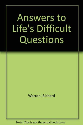 9780896933958: Answers to Life's Difficult Questions