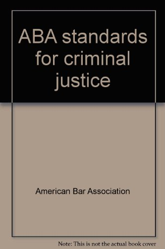 9780897077996: ABA standards for criminal justice