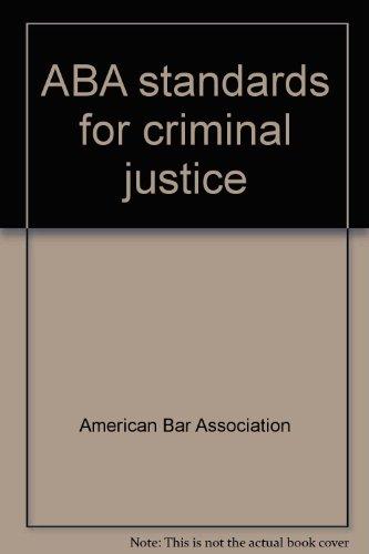 9780897077996: ABA standards for criminal justice - AbeBooks