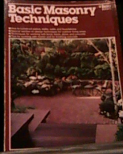 9780897210454: Basic Masonry Techniques (Ortho library)