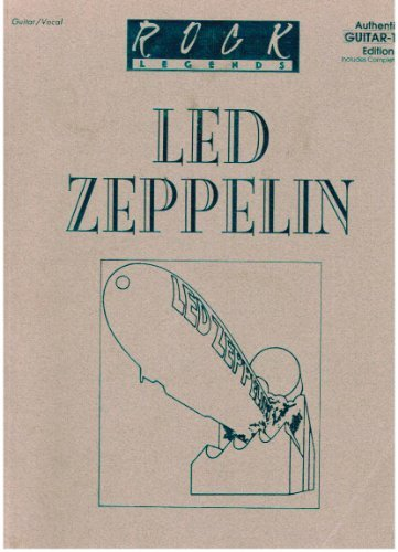 9780897240352: Led Zeppelin -- Rock Legends: Authentic Guitar TAB (Authentic Guitar-Tab Editions)