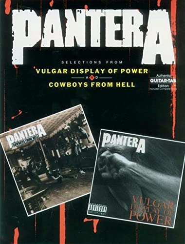 Pantera Selections From Vulgar Display Of Power And Cowboys From Hell Auth Gtr Tb (Authentic ...