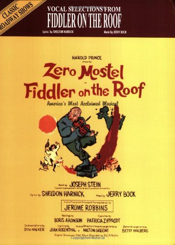 Vocal Selections From Fiddler on the Roof (piano/vocal/chords): Harnick, Sheldon