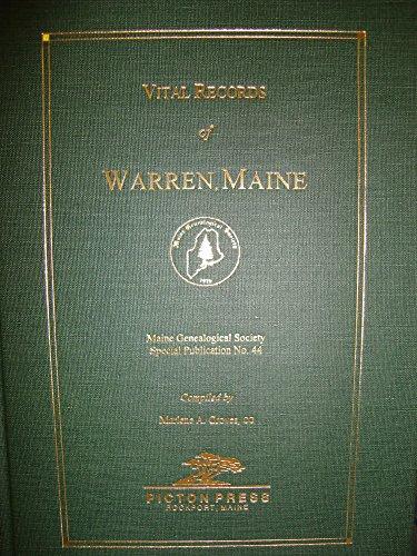 9780897255264: Vital Records of Warren, Maine