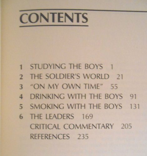 9780897270489: Boys in the Barracks: Observations on American Military Life