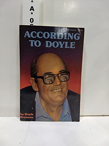According to Doyle: Brunson, Doyle
