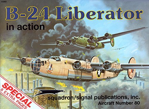 B-24 Liberator in Action - Aircraft No.: Larry Davis; Illustrator-Perry